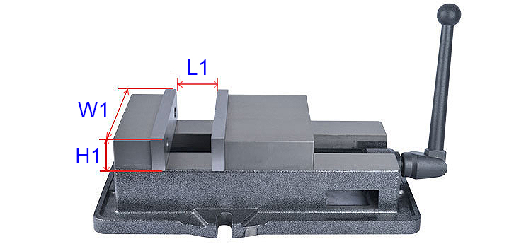 Precision Milling Machine Vise dimensions