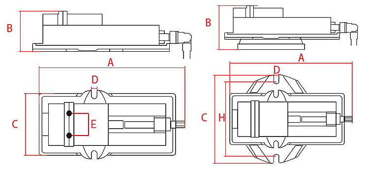 Precision Milling Machine Vise drawing